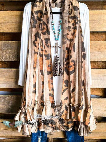 COUNTING THE STARS VEST - LEOPARD - INS | Online Fashion Free Shipping Clothing, Dresses, Tops, Shoes