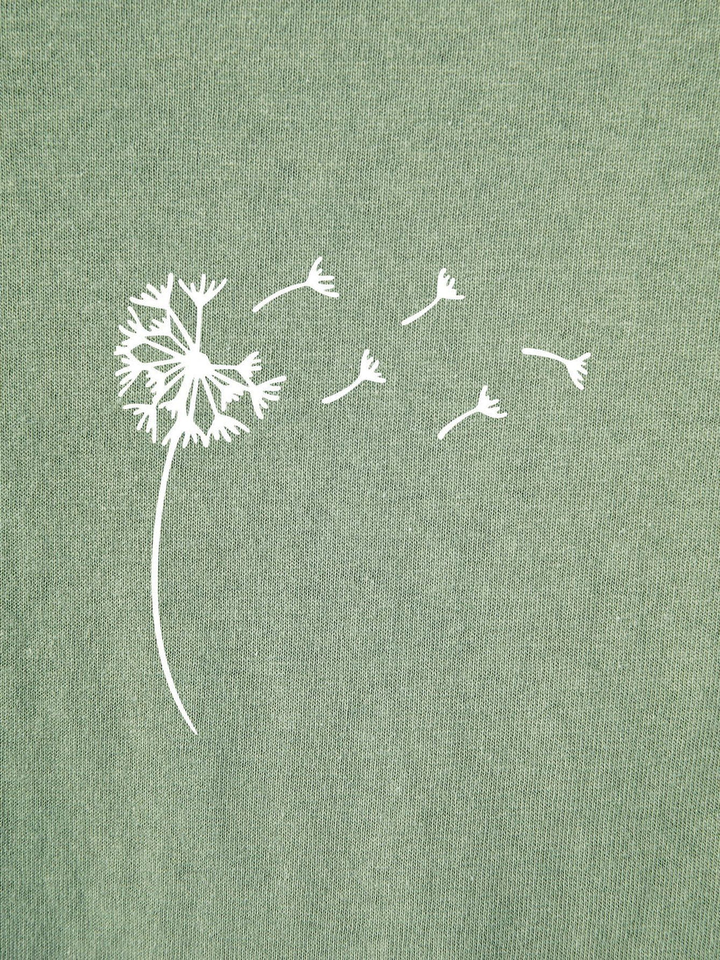 Dandelion Print Round Neck Tee - INS | Online Fashion Free Shipping Clothing, Dresses, Tops, Shoes