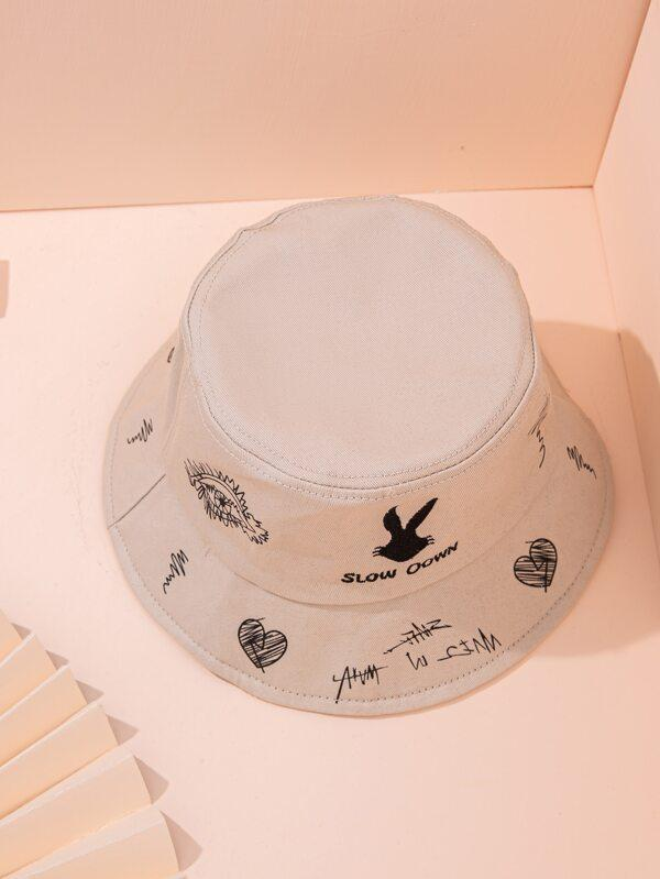 Embroidered Bucket Hat - INS | Online Fashion Free Shipping Clothing, Dresses, Tops, Shoes
