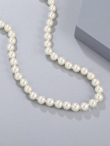Faux Pearl Beaded Necklace - INS | Online Fashion Free Shipping Clothing, Dresses, Tops, Shoes
