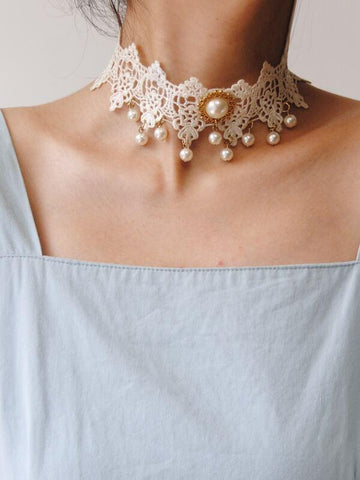 Faux Pearl Decor Necklace - INS | Online Fashion Free Shipping Clothing, Dresses, Tops, Shoes