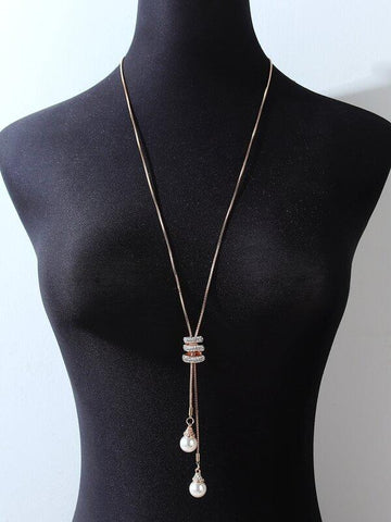 Faux Pearl Pendant Necklace - INS | Online Fashion Free Shipping Clothing, Dresses, Tops, Shoes