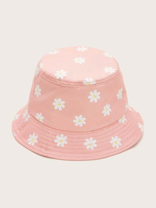 Floral Embroidery Bucket Hat - INS | Online Fashion Free Shipping Clothing, Dresses, Tops, Shoes
