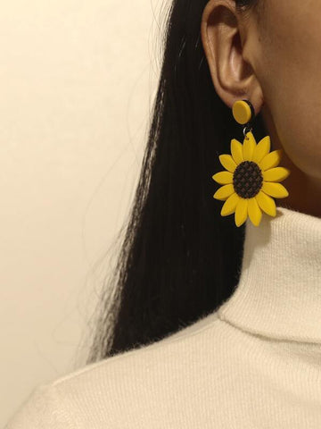 Flower Drop Earrings - INS | Online Fashion Free Shipping Clothing, Dresses, Tops, Shoes