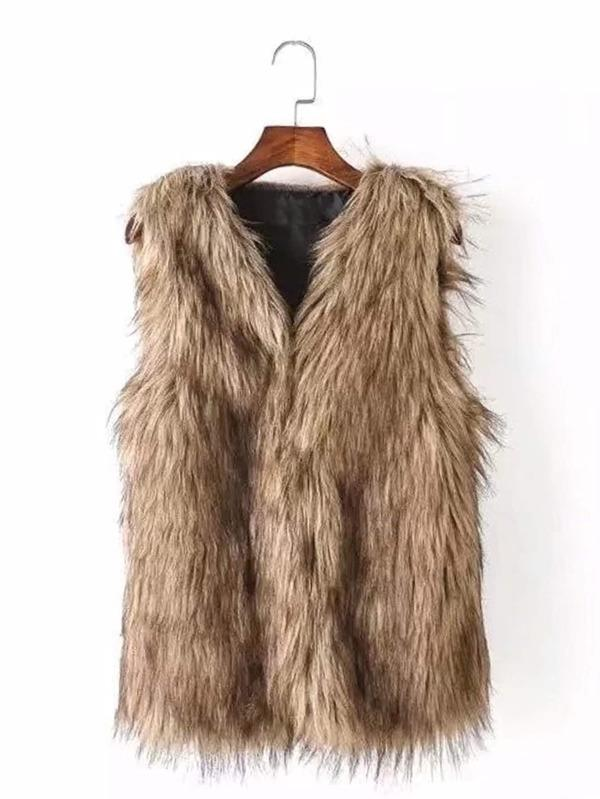 Fluffy Vest - INS | Online Fashion Free Shipping Clothing, Dresses, Tops, Shoes