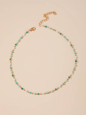 Geometric Beaded Necklace - INS | Online Fashion Free Shipping Clothing, Dresses, Tops, Shoes