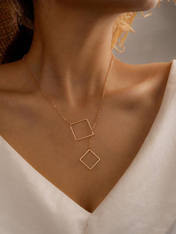 Geometric Decor Necklace - INS | Online Fashion Free Shipping Clothing, Dresses, Tops, Shoes