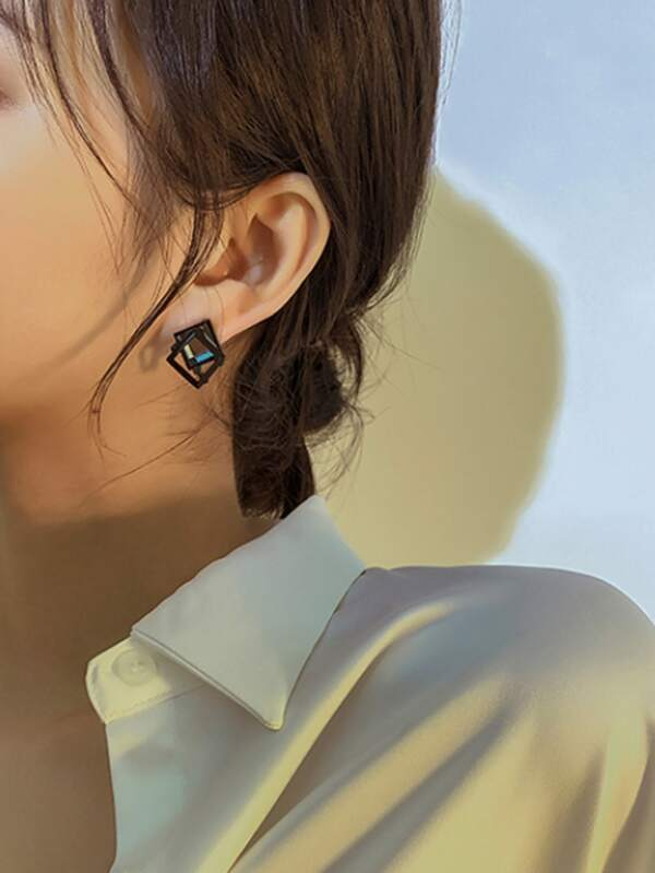 Geometric Design Stud Earrings - INS | Online Fashion Free Shipping Clothing, Dresses, Tops, Shoes