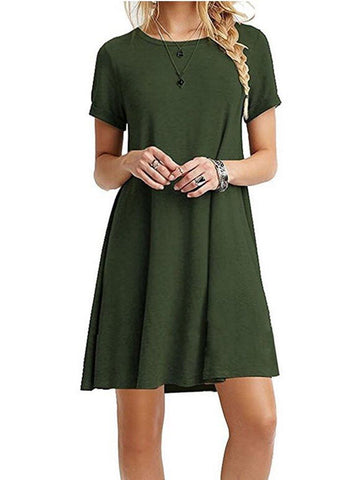 Girl'S Chiffon Dress With Round Neck And Short Sleeves - INS | Online Fashion Free Shipping Clothing, Dresses, Tops, Shoes