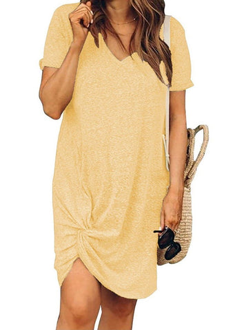 Girl'S Cuffed Round Neck Dress - INS | Online Fashion Free Shipping Clothing, Dresses, Tops, Shoes