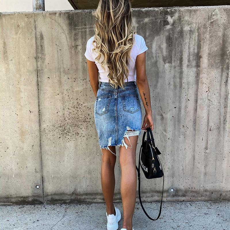Girls High Waisted Denim skirt Summer - INS | Online Fashion Free Shipping Clothing, Dresses, Tops, Shoes