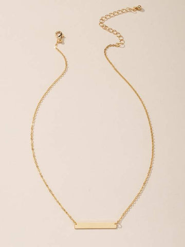 Gold Geometric Charm Necklace - INS | Online Fashion Free Shipping Clothing, Dresses, Tops, Shoes