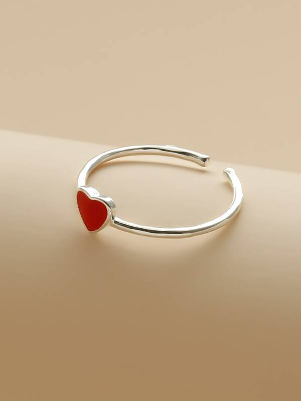 Heart Detail Cuff Ring - INS | Online Fashion Free Shipping Clothing, Dresses, Tops, Shoes