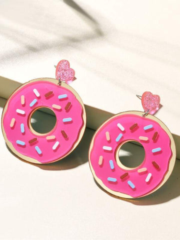 Heart Donut Drop Earrings - INS | Online Fashion Free Shipping Clothing, Dresses, Tops, Shoes