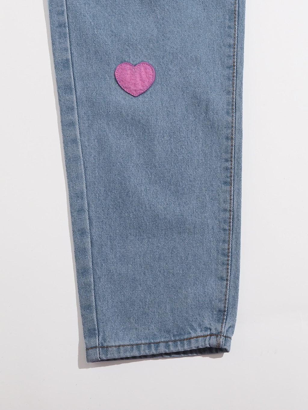 Heart Patched Drawstring Jeans - INS | Online Fashion Free Shipping Clothing, Dresses, Tops, Shoes