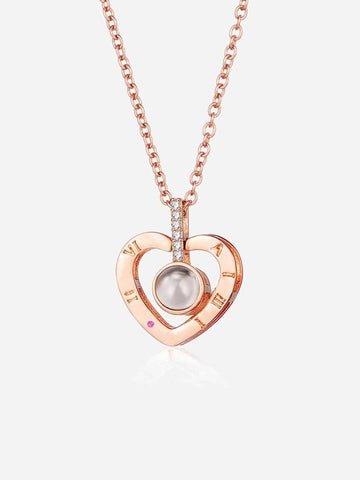 Heart Pendant Projection Necklace - INS | Online Fashion Free Shipping Clothing, Dresses, Tops, Shoes