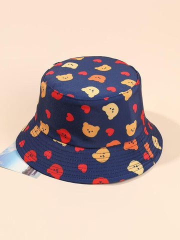 Heart Print Bucket Hat - INS | Online Fashion Free Shipping Clothing, Dresses, Tops, Shoes