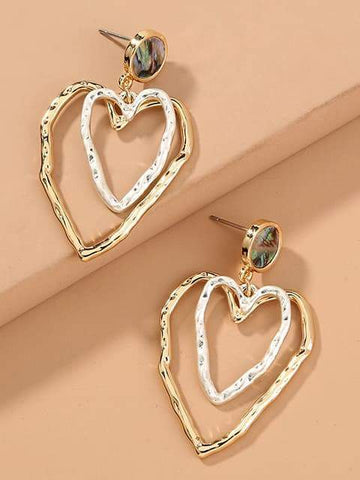 Heart Shape Earrings - INS | Online Fashion Free Shipping Clothing, Dresses, Tops, Shoes