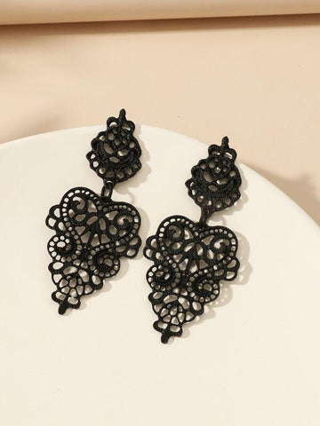 Hollow Vintage Drop Earrings - INS | Online Fashion Free Shipping Clothing, Dresses, Tops, Shoes