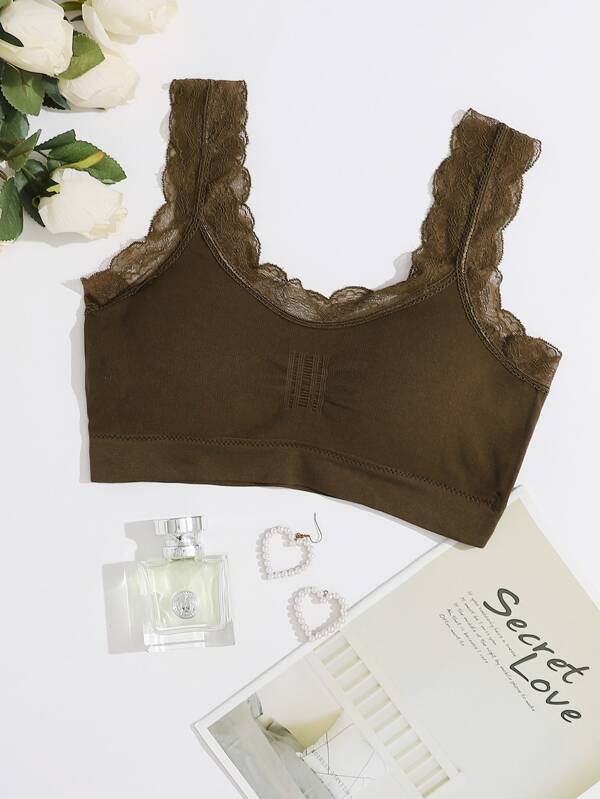 Lace Trim Bralette - INS | Online Fashion Free Shipping Clothing, Dresses, Tops, Shoes