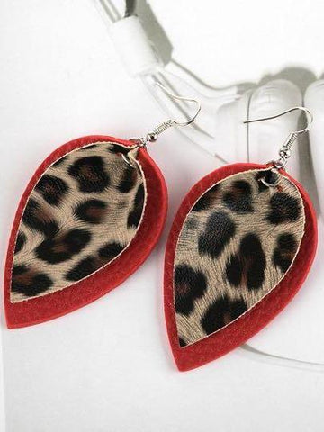 Layered Leopard Earrings - INS | Online Fashion Free Shipping Clothing, Dresses, Tops, Shoes