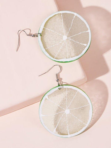 Lemon Shaped Drop Earrings 1pair - INS | Online Fashion Free Shipping Clothing, Dresses, Tops, Shoes