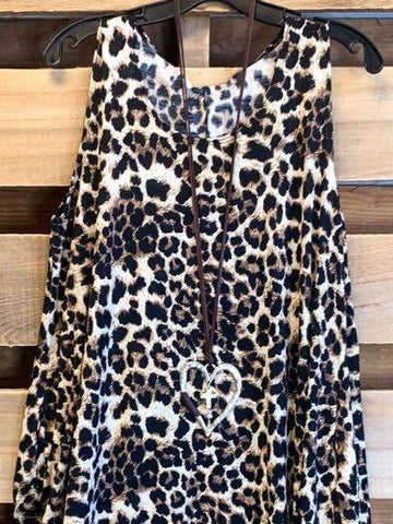 LEOPARD SLEEVELESS DRESS - INS | Online Fashion Free Shipping Clothing, Dresses, Tops, Shoes