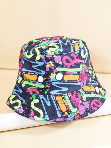 Letter Graphic Reversible Bucket Hat - INS | Online Fashion Free Shipping Clothing, Dresses, Tops, Shoes