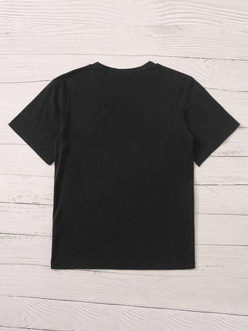 Letter Graphic Short Sleeve Tee - INS | Online Fashion Free Shipping Clothing, Dresses, Tops, Shoes