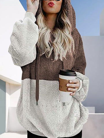 Long Cardigan Fleece With Hat - INS | Online Fashion Free Shipping Clothing, Dresses, Tops, Shoes