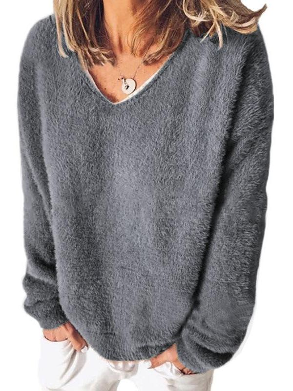 Loose Long-sleeved Hoodies - INS | Online Fashion Free Shipping Clothing, Dresses, Tops, Shoes