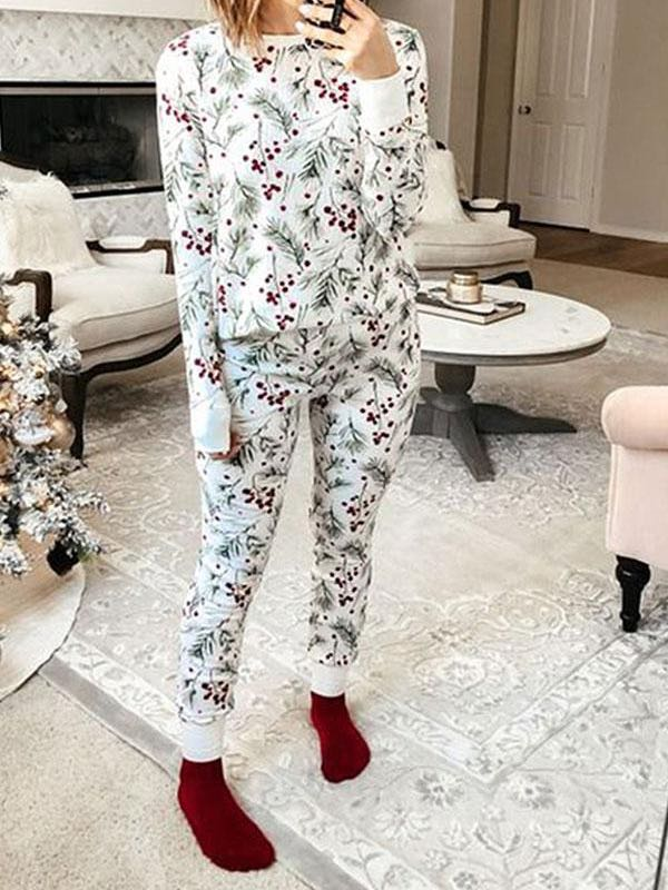 Natural Print Relaxed Pants Suit - INS | Online Fashion Free Shipping Clothing, Dresses, Tops, Shoes
