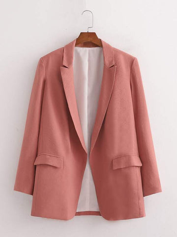 Open Front Lapel Collar Blazer - INS | Online Fashion Free Shipping Clothing, Dresses, Tops, Shoes
