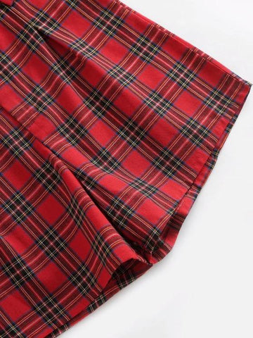 Plaid High Waisted Zipper Fly Shorts - INS | Online Fashion Free Shipping Clothing, Dresses, Tops, Shoes