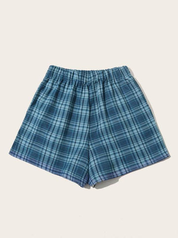 Plaid Print Wide Leg Shorts - INS | Online Fashion Free Shipping Clothing, Dresses, Tops, Shoes