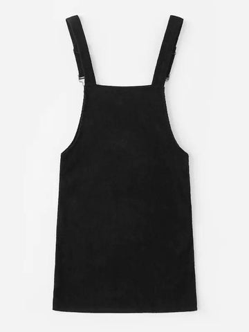 Plus Pocket Front Corduroy Pinafore Dress - INS | Online Fashion Free Shipping Clothing, Dresses, Tops, Shoes