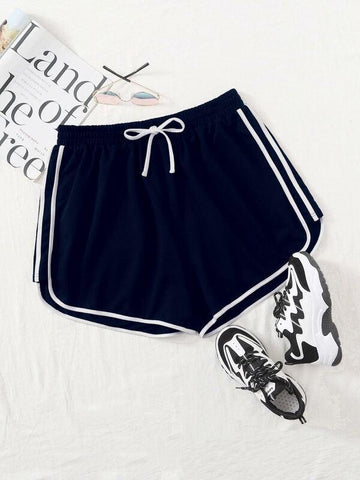 Plus Side Striped Track Shorts - INS | Online Fashion Free Shipping Clothing, Dresses, Tops, Shoes