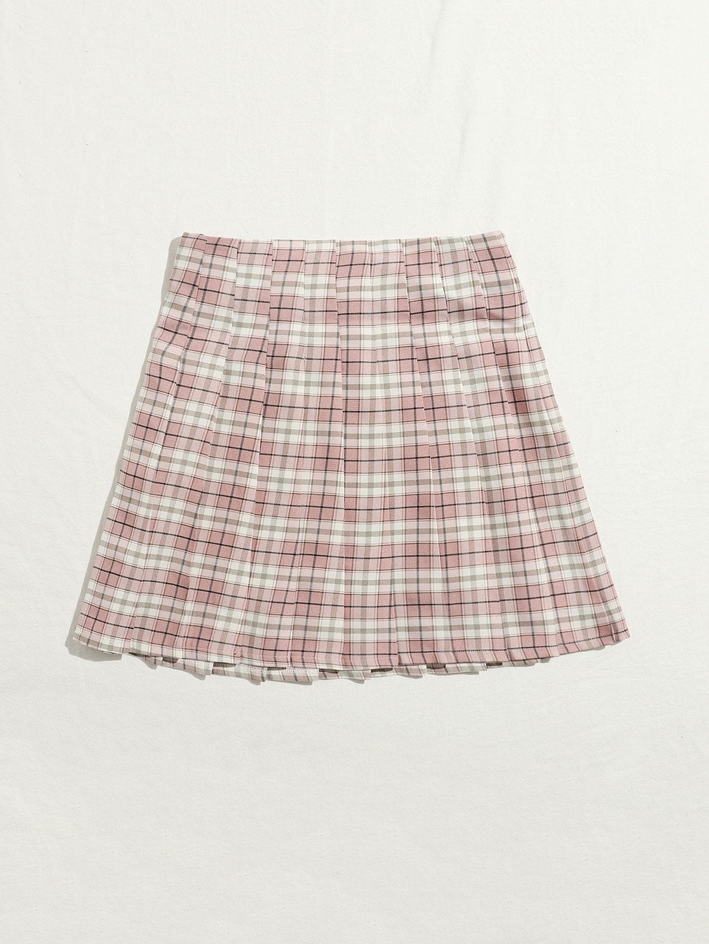 Plus Tartan Pleated Skirt - INS | Online Fashion Free Shipping Clothing, Dresses, Tops, Shoes