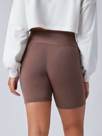 Plus Wide Waistband Biker Shorts - INS | Online Fashion Free Shipping Clothing, Dresses, Tops, Shoes