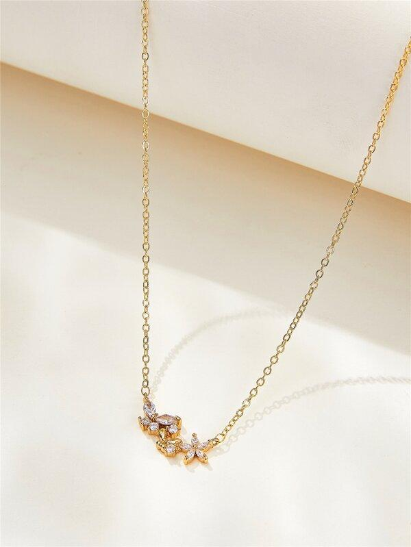 Rhinestone Butterfly Decor Necklace - INS | Online Fashion Free Shipping Clothing, Dresses, Tops, Shoes