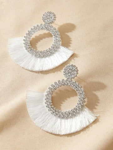Rhinestone Decor Drop Earrings - INS | Online Fashion Free Shipping Clothing, Dresses, Tops, Shoes