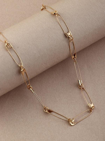 Safety Pin Decor Necklace - INS | Online Fashion Free Shipping Clothing, Dresses, Tops, Shoes