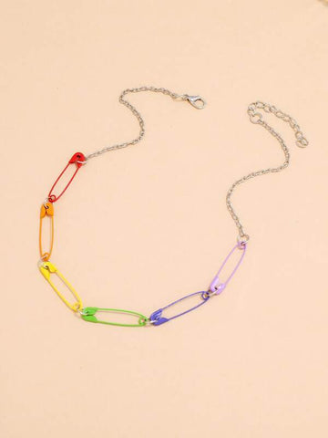 Safety Pin Design Necklace - INS | Online Fashion Free Shipping Clothing, Dresses, Tops, Shoes