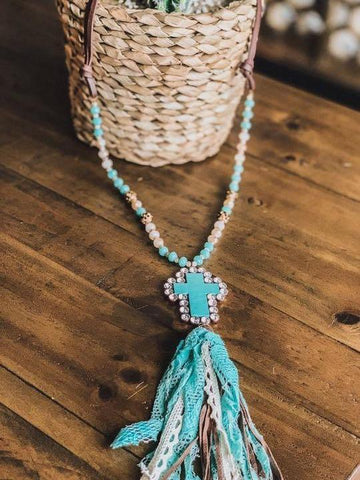 SEE ME NOW NECKLACE - TURQUOISE - INS | Online Fashion Free Shipping Clothing, Dresses, Tops, Shoes