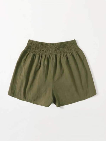 Shirred Wide Waistband Shorts - INS | Online Fashion Free Shipping Clothing, Dresses, Tops, Shoes