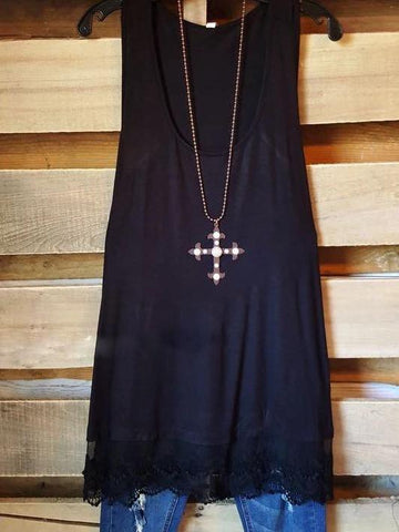 SLIP ON TANK/TUNIC - BLACK - INS | Online Fashion Free Shipping Clothing, Dresses, Tops, Shoes