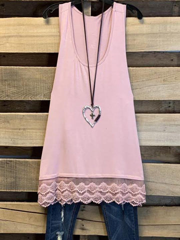 SLIP ON TANK/TUNIC - PINK - INS | Online Fashion Free Shipping Clothing, Dresses, Tops, Shoes