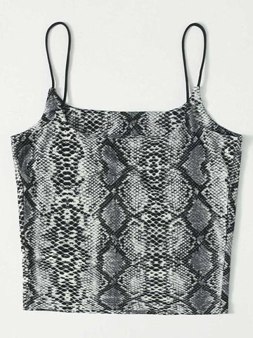 Snakeskin Pattern Cami Top - INS | Online Fashion Free Shipping Clothing, Dresses, Tops, Shoes