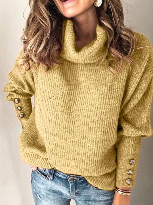 Solid Color Knit Sweater - INS | Online Fashion Free Shipping Clothing, Dresses, Tops, Shoes