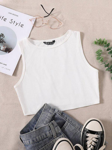 Solid Crop Tank Top - INS | Online Fashion Free Shipping Clothing, Dresses, Tops, Shoes